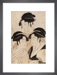 Portraits of three Japanese beauties by Kitagawa Utamaro