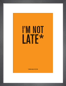 I'm Not Late by Simon C Page