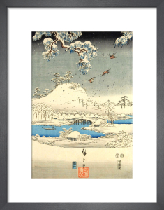 Snow scene in the garden of a Daimyo by Utagawa Kunisada and Utagawa Hiroshige