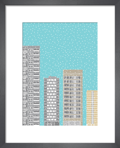 Tower Blocks in the Snow by Oscar Francis