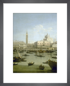 A Capriccio View of the Piazzetta with the Church of Il Redentore by Giovanni Canaletto