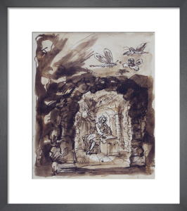 Alexander Pope in his grotto by William Kent