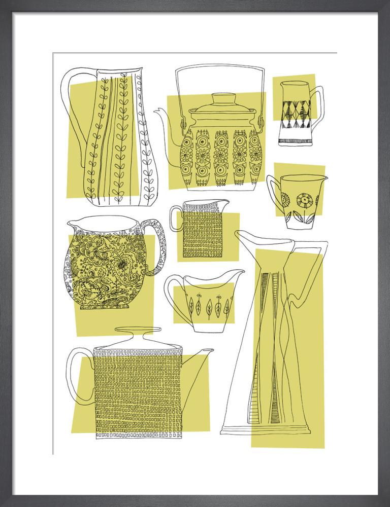Teapots & Jugs (lemon) by Skinny laMinx