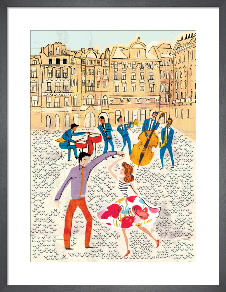 Town Square Jazz by Louise Cunningham