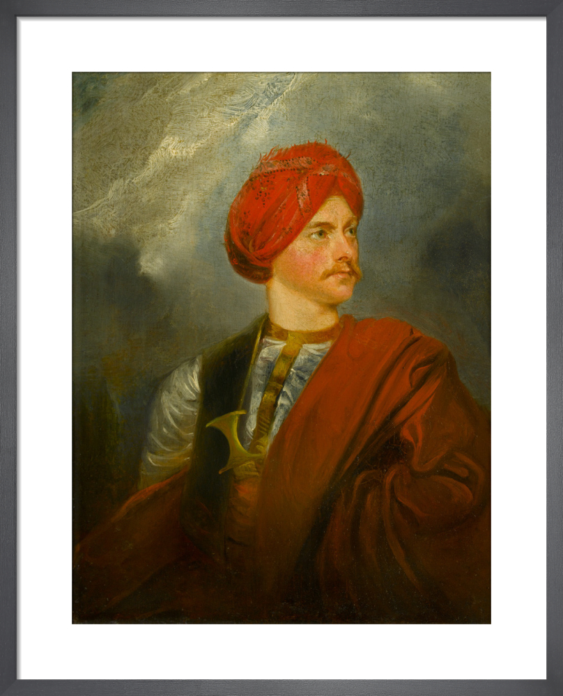 Portrait of a Man in Oriental Costume (presented as a self portrait by Giovanni Belzoni) by Anonymous