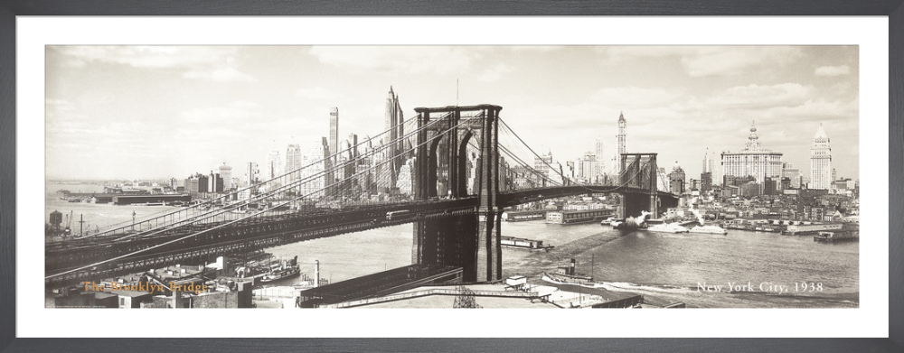 The Brooklyn Bridge New York City 1938 Detail Art Print By Anonymous King Mcgaw