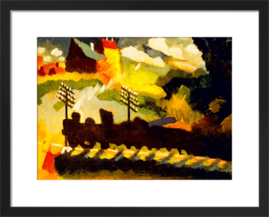View with Railway and Castle by Wassily Kandinsky