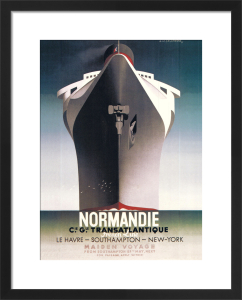 Normandie, 1935 by A.M. Cassandre