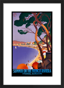 Summer on the French Riviera, 1930 by Roger Broders