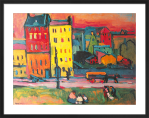 Houses in Munich, 1908 by Wassily Kandinsky