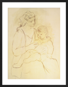 Mother and Son - Portrait of Olga Picasso, 1922 by Pablo Picasso