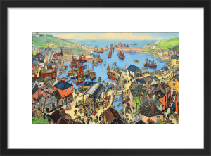 The British Scene - Fishing port scene, 1939-1946 by Grace Lydia Golden