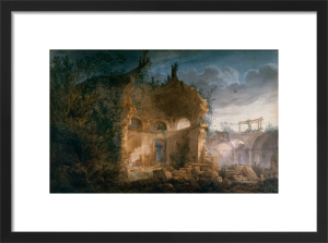 Sir John Soane's Rotunda at the Bank of England in Ruins by Joseph Michael Gandy