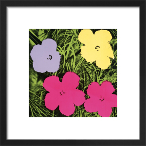 Flowers, c.1964 (1 purple, 1 yellow, 2 pink) by Andy Warhol