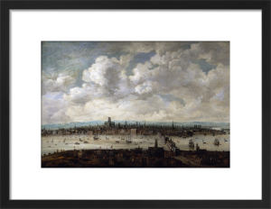 View of London from Southwark, 1640-60 by attr. Thomas Wyck