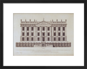 West Front of Chatsworth by English School