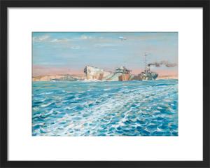 A Dazzled Oiler with Escort by Geoffrey Stephen Allfree