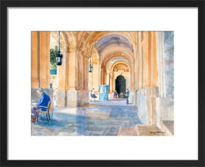 Valletta Arcade by Lucy Willis