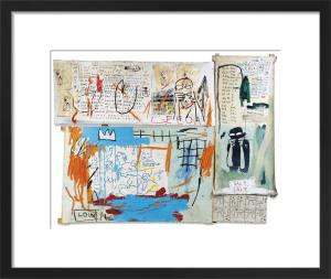 Piscine Versus the Best Hotels, 1982 by Jean-Michel Basquiat