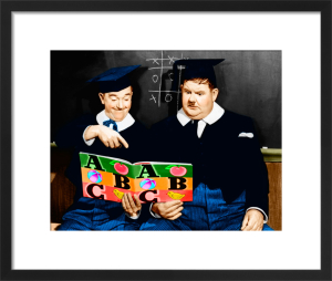 Laurel and Hardy (A Chump at Oxford) 1940 by Hollywood Photo Archive