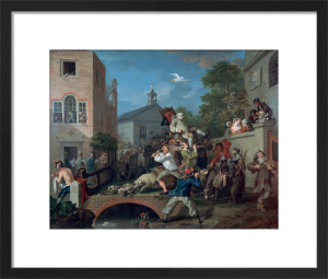 An Election IV: Chairing the Member by William Hogarth