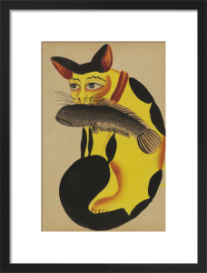 Cat with a fish in its mouth, c.1890 by Unknown artist