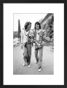Mick Jagger and Ronnie Wood 1976 by Mirrorpix