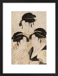 Portraits of three Japanese beauties by Kitagawa Utamaro