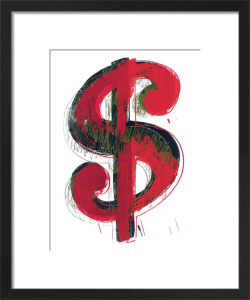 Dollar Sign, 1981 (red) by Andy Warhol