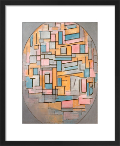 Composition in Oval with Coloured Surfaces 2, 1914 by Piet Mondrian
