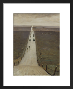 The Road from Arras to Bapaume by Christopher Richard Wynne Nevinson