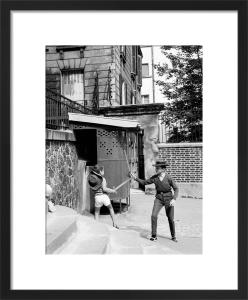 Street Battle - Montmartre, 1963 by Alan Scales