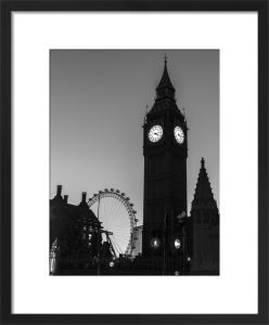 Big Ben Silhouette by Assaf Frank