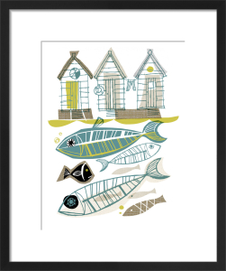 Beach Huts by Gillian Martin