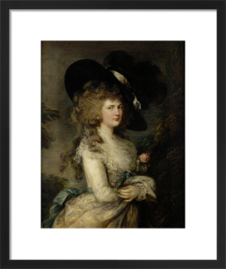 Portrait of Georgiana, Duchess of Devonshire, c.1785-87 by Thomas Gainsborough