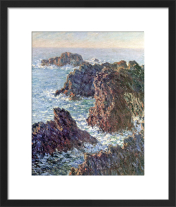 Rock Points at Belle-Ile, 1886 by Claude Monet