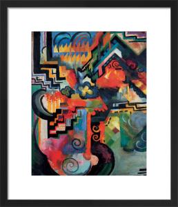 Colored Composition (Homage to Johann Sebastian Bach) by August Macke