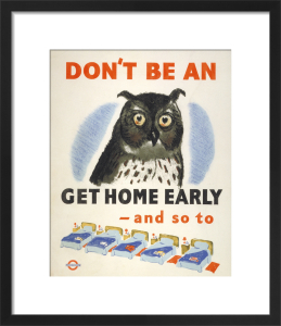 Don't be an owl, 1943 by Unknown artist