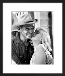 Marilyn Monroe and Clark Gable - The Misfits by Hollywood Photo Archive