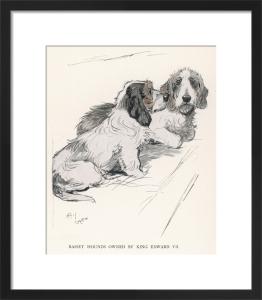 Edward VII's Basset Hounds, 1930 by Cecil Aldin