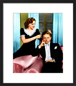 Mickey Rooney and Judy Garland (Andy Hardy Meets A Debutante) 1940 by Hollywood Photo Archive