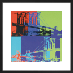 Brooklyn Bridge, 1983 (orange, blue, lime) by Andy Warhol