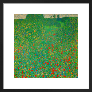 A Field of Poppies by Gustav Klimt