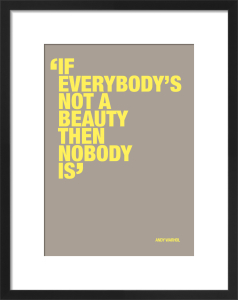 Not a beauty by Andy Warhol