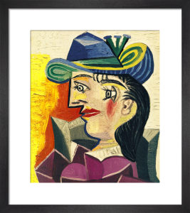 Woman with a Blue Hat by Pablo Picasso
