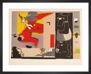 Woman and Unicorn with Black Bull by Le Corbusier
