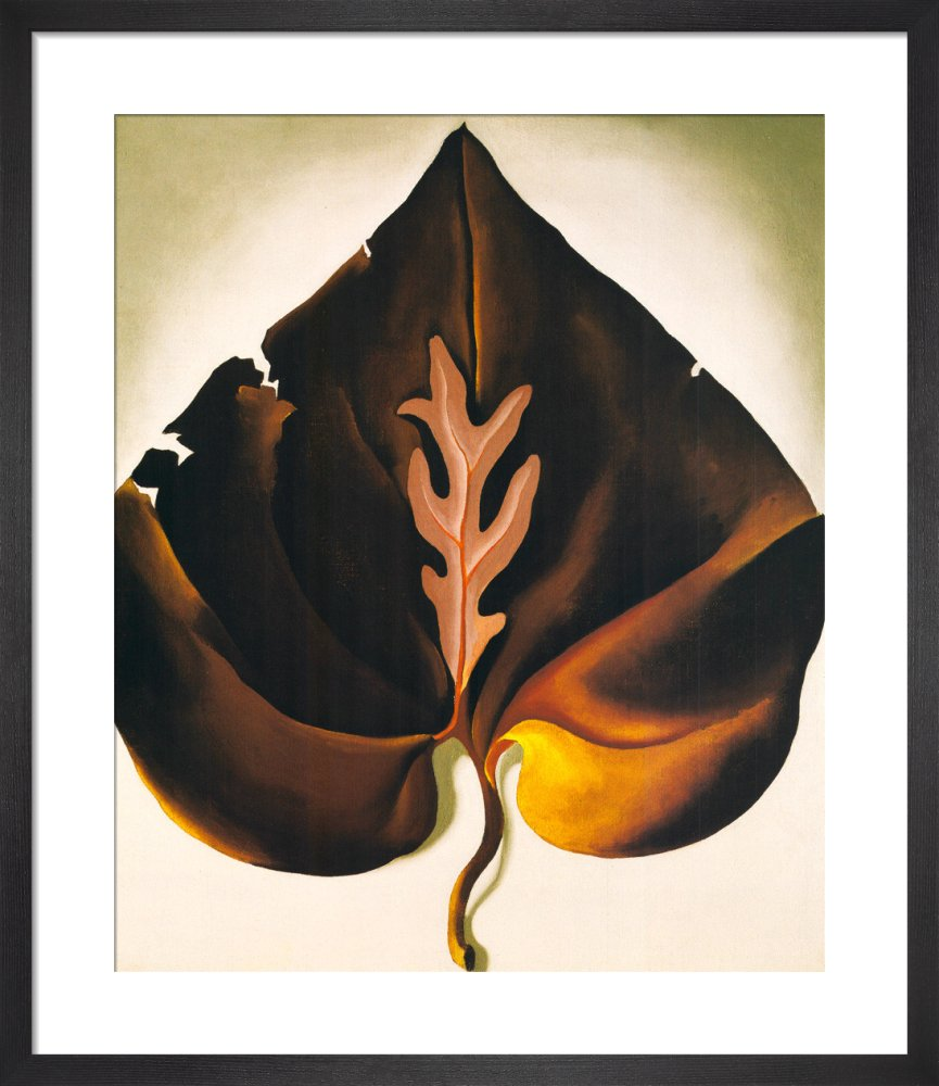 Dark and Lavender Leaf, 1931 by Georgia O'Keeffe