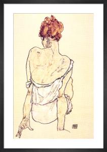 Female Seated by Egon Schiele