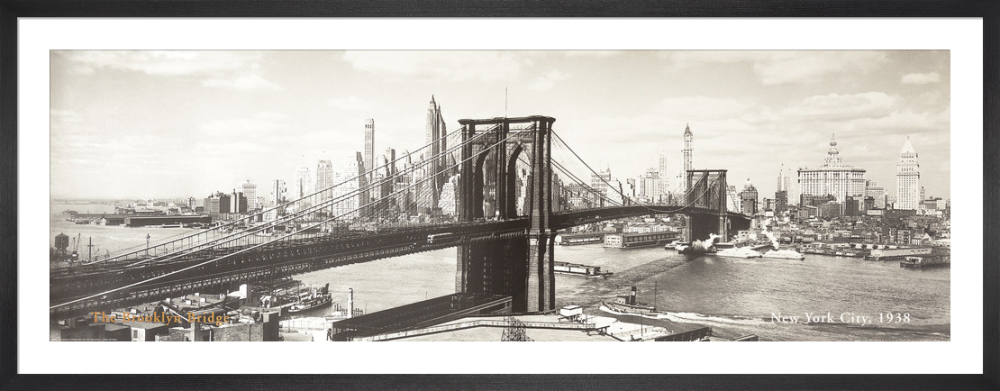 The Brooklyn Bridge, New York City 1938 (detail) by Anonymous