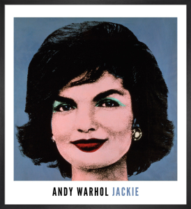 Jackie, 1964 (on blue) by Andy Warhol